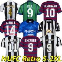 Newcastl e Asprilla Retro Soccer Jerseys 1984 1984 1988 1994 1995 96 97 98 99 2005 2006 2006 2006 Magpies Batty Barnes Shearer Bellamy Owen United Classic Football Shirt