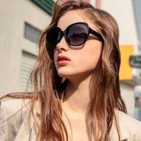 Parzin Sunglass mulheres marca dignador elegante mulheres grandes mulheres sunglass quadro grande polarizado uv400 ladi shad preto p6216