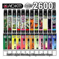 Original Aokit Lux Monouso E Sigarette Edizione del dispositivo Pod Light Edizione 2600Puffs VAPE Penny Pen System 8.5ml PRE riempito Cartuccia 1350mAh Batteria Kit vapore batteria OMI Plus Cube