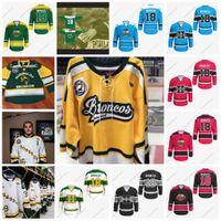 Humboldt Broncos Hockey Jersey 43 Mark Edmands 23 Derek Muster 37 Josh Patrician 61 Michael Clarke 39 Reid Arnold Custom
