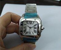 女性の時計33mmの時計ケースのステンレス腕のファッションクロック自動腕時計スチールの腕時計白い面02