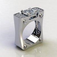 Cluster criativo parafuso geométrico micro conjunto cheio de acessórios de anel de zircão Mencluster dtp3