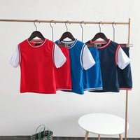 2021 Kids Basketball Team Shorts Clothing Sets Printing Boys Girls Teens Summer Quick-drying fake two T-shirts Two-piece Tracksuit Sportswear Sport Suits