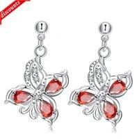 Moderner Silberschmuck Beliebt in Europa und Amerika Klassische reizende Schmetterlingsstil Dame Ohrringe SPE037-B SPE037