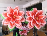 Outdoor Event Stage Decoration LED Lighting newest Inflatable Flowers for show party supplies