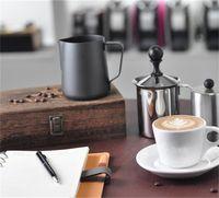 350/600 ml de acero inoxidable de acero inoxidable de espresso espresso Coffeer Coffee Coffee Leche Leche Jarras Jarra Jarra Leche Drunking Jug 1400 V2
