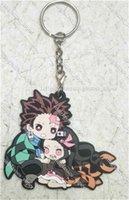 COSANER Kimetsu no Yaiba Anime Action Key Chain Silica Gel Figure Keyring Toys Keychain Keyholder Unisex Gifts kawaii