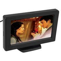 "4.3 ""TFT LCD Rearview 카메라 자동차 모니터 DVD GPS 역 백업 차량 운전 액세서리 무료"