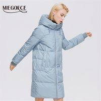 Miegofce зимние женские пальто простой моды длинная куртка женщины профессиональные Parka Femme зимнее пальто D21858 211021