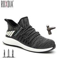 Ultraleichte Stahlzehenkappe Männer Stiefel Sicherheitsschuhe Frauen Arbeit Sneaker Atmungsaktiv Außenschuh Plus Größe 36-46 Roxdia Marke RXM159