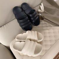 Slippers 2021 Mute Women Thick Platform Summer Beach Eva Soft Sole Slide Sandals Leisure Ladies Indoor Bathroom Anti-slip Shoes
