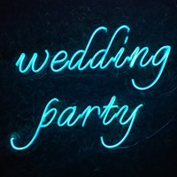 """""""wedding Party """" word sign second color customized beautaful decoration wall Home Bar Public neon led light 12V Super Bright"""