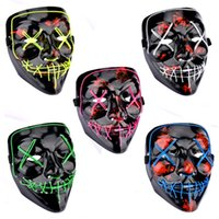 Halloween Toys Mask LED Light Up Glowing Party Funny Masks Gift The Purge Election Year Great Festival Cosplay Costume Supplies Coser face sheild