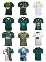 19 20 Afrika Gömlek Afrika 100. Yıldönümü Rugby Jersey Şampiyonu Ortak Versiyonu Ulusal Takım Shirts Güney