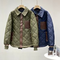 New Arrivals 12795 Branded Men's Jacket Autumn and Winter Rhomboid Vintage British Style Noble Warmth Cotton Coat M-2XL