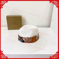 Hombres sombreros lujos diseñadores tapas planas mujeres tejer strawhat verano ondulado paja gorra cubo sombrero respirable sol coolpible con bolsa de polvo strohhut cappello