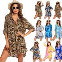 S-3XL زائد حجم اللباس للنساء ملابس السباحة عطلة شاطئ التستر قميص بيكيني بحر الاستحمام دعوى الجلباب