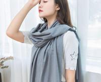 Sciarpe arrivo cashmere imitazione wrap scialle scialle all'ingrosso sarongs hijabs bandanas womens ragazze solido pianura # 3771