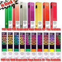 [10pcs] 고품질 퍼프 바 플러스 퍼프 XXL 일회용 전자 담배 vape 펜 포드 장치 미리 채워진 카트리지 배터리 60+ Flavs 패키지 봉