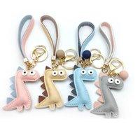 Wholesale 100pcs Metal Leather Key Chain Key Ring Women Girls Handbag Pendant New Animal Jewelry Car Accessories Bags Decor