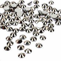 Nail Art Dekorationen Jet Black Hämatit 3D Nicht fix Kristall Rhinestones Für Nägel Dekoration Kleber auf Glas Diamanten DIY Hochzeit 406