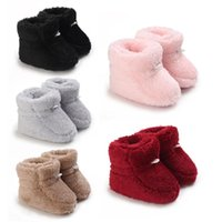 Boots Born Toddler Warm Fuzzy Winter Baby First Walkers Girls Boys Shoes Fashion Soft Sole Fluffy Snow Booties For 0-18M