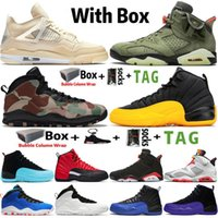 2021 Jumpman 4 Sail 4s Mens Baloncesto Zapatos 6 6s Travis Scotts 10 10s Woodland Camo 12 12s University Gold Sports Deportes Sneakers