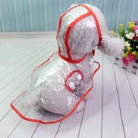 Dog Apparel Raincoat Costumes Hooded Teddy Small Dogs Pet Kitten Cats Transparent Clothes Outdoor Fashion Waterproof In Spring Summer