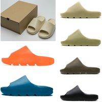 New Beach women men slippers mens slide shoes foam runner bone resin earth brown soot triple black total orange white sneaker sdesert sandals