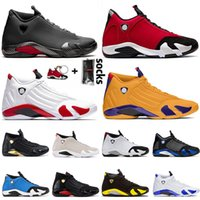2021 Top Fashion Jumpman 14 14s Mens Trainers Basketball Shoes Retro Gym Red University Gold Hyper Royal LAST SHOT Desert Sand Thunder Sneakers Size 47