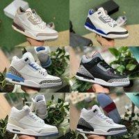 Jumpman Racer Mavi 3 3s Basketbol Ayakkabıları Erkek Serin Gri Bir Ma Maniere UNC Parçası Knicks Jordán Mahkemesi Mor Seul Siyah Çimento Saf Beyaz Olarak NRG Eğitmen Sneakers