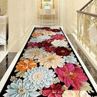 Креативные ковры Цветок Европейская прихожая шкала для гостиной спальни коврики коврики кухонные лестницы ковер против покида