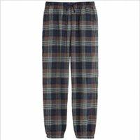 Women's Sleepwear Spring Autumn Women Cotton Sleep Bottoms Couples Matching Plus Size Nighty Trousers Pyjama Ladies Plaid Pajama Pants