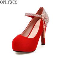 큰 크기 32-43 여성 하이힐 (11cm) 신발 숙녀 패션 레이디 펌프 섹시한 라운드 발가락 파티 댄스 결혼식 A07 드레스
