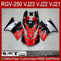 PAQUEMAS OEM PARA SUZUKI RGV250 SAPC VJ23 RVG250 250cc VJ 23 Cowling RGV-250CC 97 98 Bodywork 107hc.22 RGV-250 Panel RGVT-250 RGVT RGV 250 CC 1997 1998 Bodys Platey Red