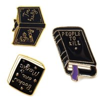 Book pins collection ~ Book Library Enamel pins Lapel Badges Brooches men women Book gift C3