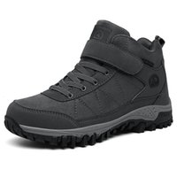 New Men Wants Ankle Boots Winter With Fur 2021 Warm Snow Footwear Male Hiking Work Shoes Camping Fashion Rubber Sports Sneakers