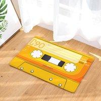 Türmatte Flanell Plüsch Vintage Kassettenband Indoor Fußmatte Rutschfeste Türboden Matten Teppich Teppiche Dekor Porch Doormat Tapete NHB6351