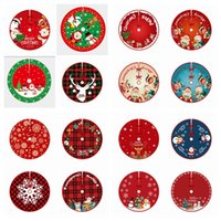 90cm 36inch Christmas Tree Skirt Decorations Santa Claus Snowman Home indoor Xmas Mat Carpet Decor Holiday Party Ornaments Gift JY0722