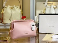 Fashion designer handbags Vintage chain Shoulder Bags For Women Shell bag Lollipop buckle Female Handbag top quality Leather Crossbody Purse LCM