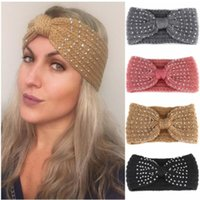 Xugar Girls Rhinestone Knot Headbands Makeup Woolen Knit Diamond Hairband For Women Winter Elastic Bezel Womens Hair Accessories1