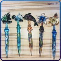 Colorful Dab Tool 5.8 Inches Glass Dabber Stick Carving Hookahs Bongs Pipe Wax Oil Burner Rig Carb Cap Smoking Accessory