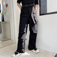 Primavera e autunno Giappone Giappone Department Dark Original Minority Personality Tre Dimensional Pocket Trend Trend Functional Style Hair Styli Pantaloni da uomo