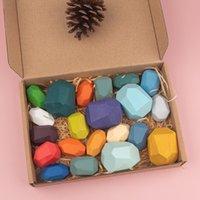 الأطفال الخشبية حجر اللون jenga بناء كتلة التعليمية لعبة الإبداعية النمط الشمال نمط التراص لعبة rainbow خشبية لعبة هدية 1813 v2