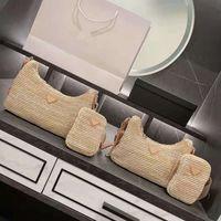 Sacs à main sacs à bandoulière designeurs luxurys designers sacs de poche femme sac à main de paille matières sacs à main 2pcs / set dame packs extérieurs