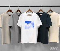 20ss T Gömlek Kısa Kollu Yuvarlak Boyun Bluzlar Kazak Yaz Sokak Hip Hop Kollu Üst Mektup 100% Pamuk Erkekler Ve Kadınlar Artı Boyutu S-XL