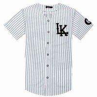 T-shirt -2019 Vente T-shirts Fashion Streetwear Hip Hop Baseball Jersey Strosed Hommes Vêtements Tyga Derniers Kings Vêtements