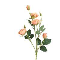 أجهزة الكمبيوتر 5 رؤساء الورود فرع الحرير الاصطناعي الزهور المنزل الزفاف الديكور فلوريس عيد الميلاد ديكور وهمية مع الأوراق 73 سم أكاليل الزخرفية