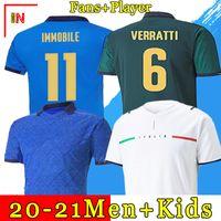 ITALIA futebol Jersey 2021 BARELLA SENSI INSIGNE 20 21 European Cup Renaissance CHIELLINI BERNARDESCHI camisas de futebol masculino + kids kit uniformes
