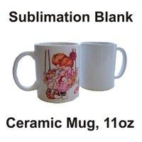 Сублимационные заготовки кружки личности термальная трансферная керамическая кружка 11 унций белая чашка водяной чашки подарки для питья быстрая доставка FY4483